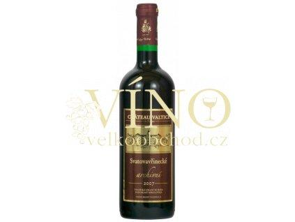 Vinné sklepy Valtice Svatovavřinecké 2007 archivní suché červené víno
