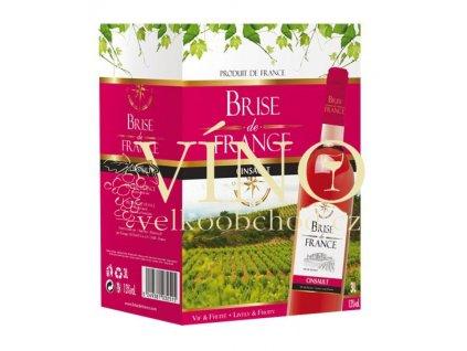 Víno Brise de France Grenache Syrah 3 l bag in box suché francouzské růžové víno