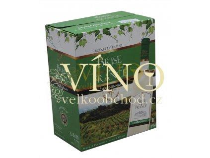 Akce ihned víno Brise de France Chardonnay 3 l bag in box suché francouzské bílé BIB