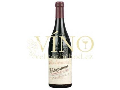 Domaine du Vieux Télégraphe Chateauneuf-du-Pape Télégramme AOC francouzské červené víno z Cotes du Rhone