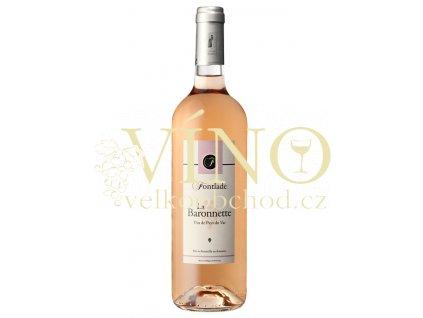 Víno - Chateau De Fontlade VIN DE PAYS DU VAR LA BARONNETTE ROSE