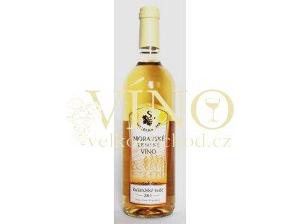 ZD Sedlec Rulandské šedé 2014 moravské zemské víno 0,75 L polosuché moravské bílé víno (50/15)