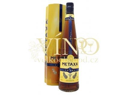Metaxa 5* 0.7 l 38% v plechové dóze