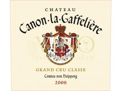 Château Canon La Gaffelie`re 2008 Grand Cru 0,75l víno z Bordeaux, Saint-Émilion