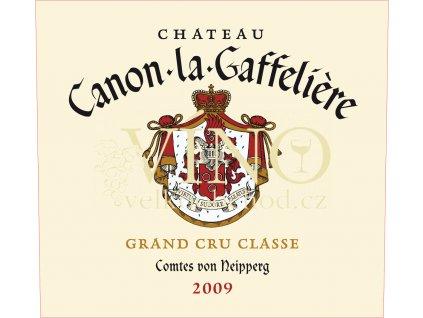 Château Canon La Gaffelie`re 2009 Grand Cru  0,75l víno z Bordeaux, Saint-Émilion