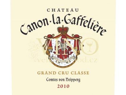 Château Canon La Gaffelie`re 2010 Grand Cru 0,75l víno z Bordeaux, Saint-Émilion