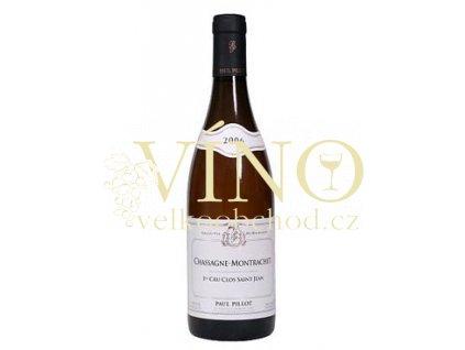Víno Chassagne-Montrachet 1er Cru Clos Saint Jean 2010 0.75 L bílé Paul Pillot Côte de Beaune Francie