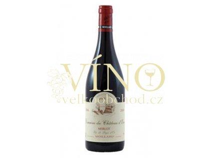 Víno Merlot Domaine du Chateau d´Eau BIO 2014 0,75 l červené Moillard Languedoc-Roussillon Francie