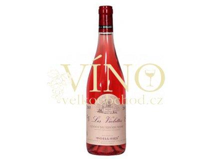 Víno Côtes du Rhône Les Violettes Rosé 2009 0.75 L rosé Moillard Côtes du Rhône Franice