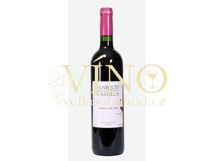Víno Marqués de Castilla Tinto 2015 0,75 l červené Cristo de la Vega La Mancha Španělsko