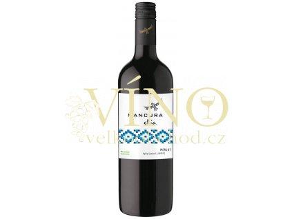 Morandé Mancura Etnia Merlot 0,75 l suché chilské červené víno z Central Valley