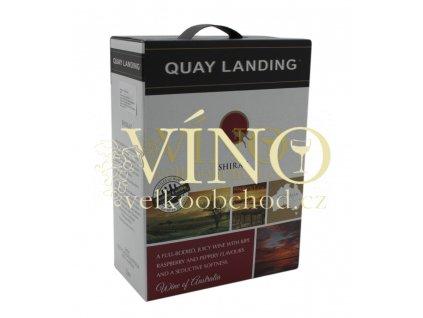 Víno Quay Landing Shiraz BIB 3 l australské červené bag in box