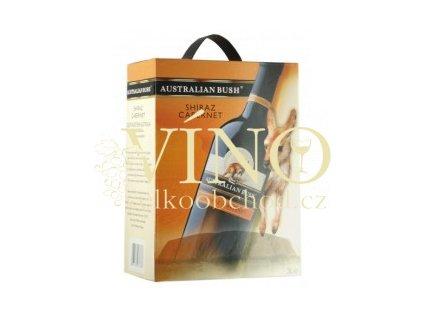 Akce ihned Víno Australian Bush Shiraz Cabernet BIB 3 l australské červené bag in box