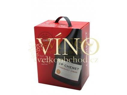 Akce ihned J.P.Chenet Cabernet Syrah BIB 5 l francouzské červené víno bag in box