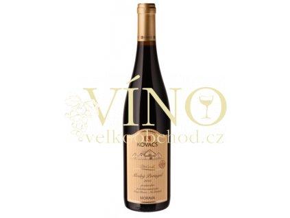 Vinařství Kovacs Modrý portugal Tradiční 2015 pozdní sběr 0,75 l suché červené víno (07/15)