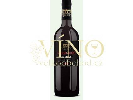 Víno Reisten Maidenburg Merlot 2008 výběr z hroznů suché Valtická
