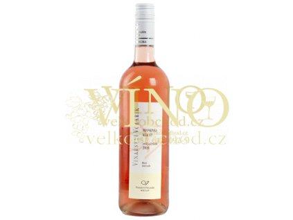 Růžové moravské víno Frankovka rose, pozdní sběr, 2017 š. 1720 suché Volařík Mikulov 0,75 l