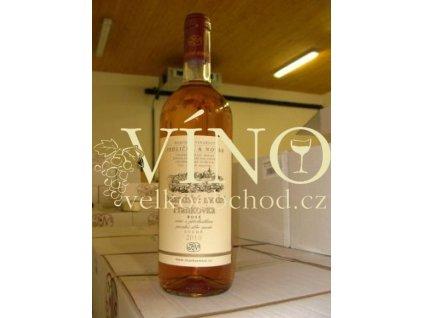 Moravské růžové víno Cuvée Rulandské modré / Frankovka rosé pozdní sběr 2010 suché 0,75 Jedlička & Novák Bořetice