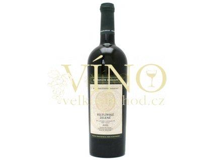Mikrosvín Mikulov Traditional line Veltínské zelené 2015 výběr z hroznů 0,75 l suché bílé víno