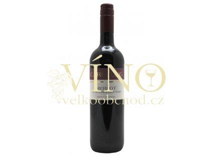 Carl Jung Merlot dealcoholized nealkoholické 0,75 l suché německé červené víno