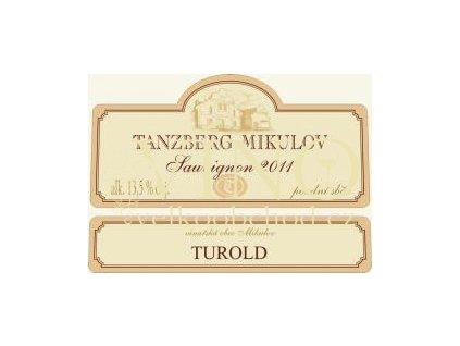 Tanzberg Sauvignon 2018 pozdní sběr Turold 0,75 l polosladké moravské bílé víno