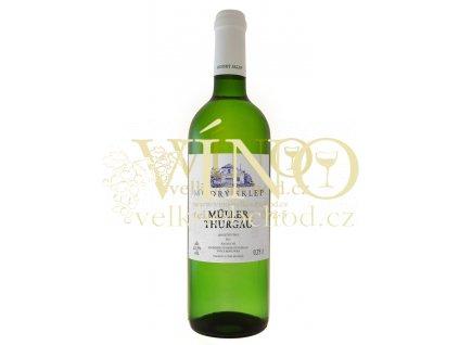 Modrý sklep Muller Thurgau jakostní 0,75 l suché moravské bílé víno