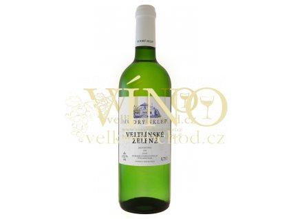 Modrý sklep Veltlínské zelené jakostní 0,75 l suché moravské bílé víno
