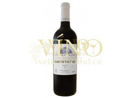 Modrý sklep Svatovavřinecké jakostní 0,75 l suché červené moravské víno
