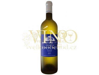 Moravské bílé víno VELTLÍNSKÉ ZELENÉ pozdní sběr polosuché 2011 0,75 l Modrá řada