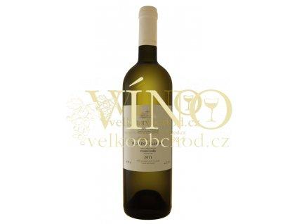 Moravské bílé víno RYZLINK VLAŠSKÝ pozdní sběr polosuché 2011 0,75 l Zlatá řada