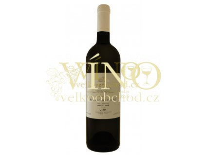 Moravské červené víno RULANDSKÉ MODRÉ pozdní sběr suché 2008 0,75 l Zlatá řada