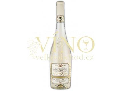 Moravské bílé Veltlínské zelené 23/11 kabinetní suché 2011 0.75 L vinařství U Kapličky