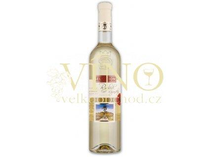 Moravské bílé Ryzlink rýnský 12/08 pozdní sběr polosladké 2012 0.75 L vinařství U Kapličky