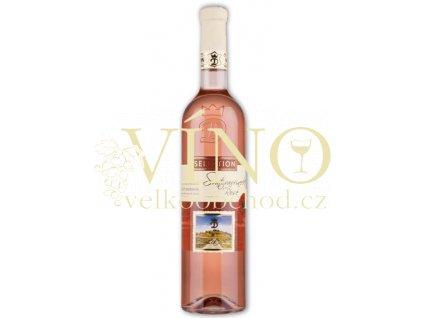 Moravské růžové Svatovavřinecké rosé 25/12 jakostní polosuché 2012 0.75 L vinařství U Kapličky