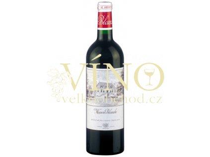 Château Maison Blanche AOC francouzské červené víno z Bordeaux, Saint-Émilion