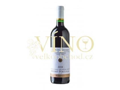 Znovín Znojmo Modrý Portugal 2018 jakostní 0,75 l suché červené víno