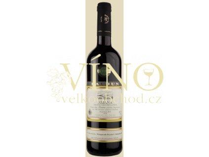 Baloun Ariana 2015 pozdní sběr 0,75 l suché moravské červené víno 3215