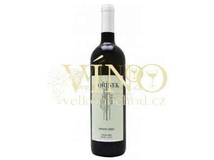 Moravské víno Pinot Gris pozdní sběr 2012 suché 0.75 L Kořínek