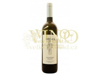 Moravské víno Veltlínské zelené pozdní sběr 2011 polosuché 0.75 L Kořínek