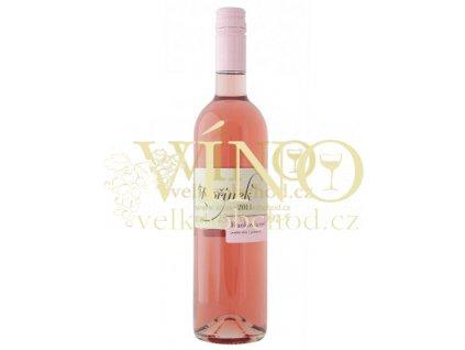 Moravské víno Frankovka rosé 2011 kabinet polosladké 0.75 L Kořínek