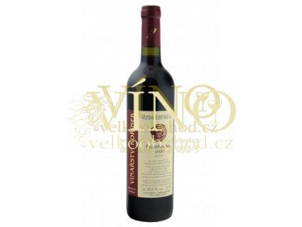 Moravské víno Frankovka 2008 moravské zemské suché 0.75 L Kořínek