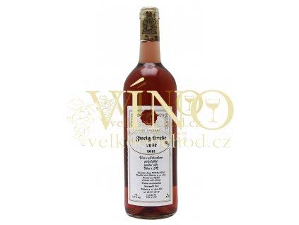 Moravské víno Zweigeltrebe rosé pozdní sběr 2012 0.75 L vinařství Kozumplík