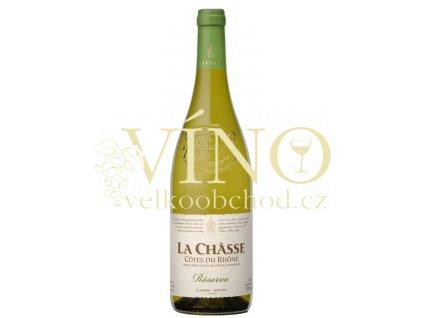 Gabriel Meffre La Chasse Prestige Blanc AOC 0,75 L suché francouzské bílé víno z Cotes du Rhone