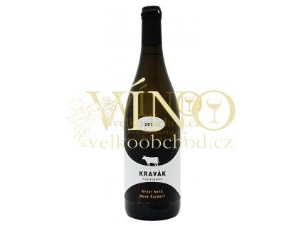 Moravské bílé víno SAUVIGNON pozdní sběr polosuché 2011 0,75 l Šaldofrský Kravák 4