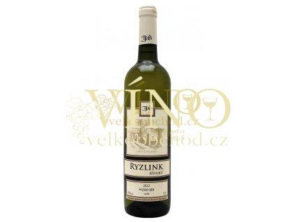 Ryzlink Rýnský pozdní sběr 2012 suché Šlichta vinařství 0.75 L