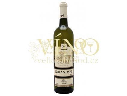 Rulandské Bílé pozdní sběr 2012 polosuché Šlichta vinařství 0.75 L