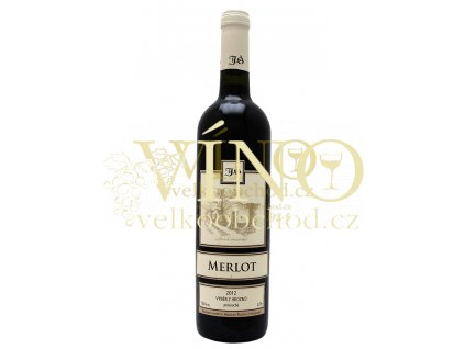 Merlot výběr z hroznů 2012 polosuché Šlichta vinařství 0.75 L