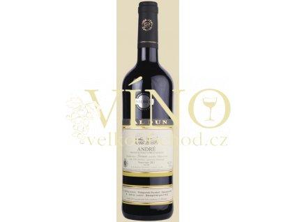 Baloun André 2012 pozdní sběr 0,75 l suché moravské červené víno 3312