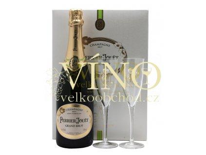 Akce ihned Champagne Perrier Jouët Grand Brut 0,75 l v dárkovém boxu se skleničkami