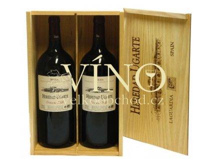 Heredad Ugarte Crinaza DOCa 2x 1,5 L dřevěný box suché španělské červené víno z Rioja